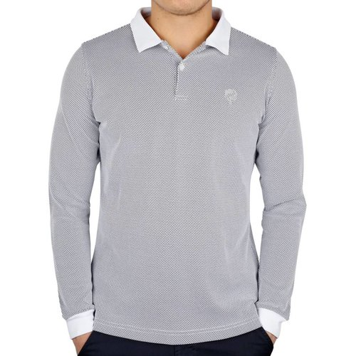 Heren Longsleeve Polo JL High White / Black