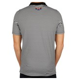 Men's Golf Polo Stripe JL Punch Black / White