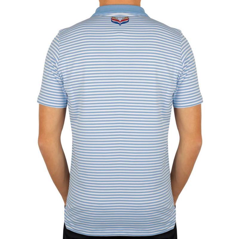 Men's Golf Polo Stripe JL Punch Lt Azul / White
