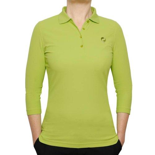 Women's 3/4 Golf Polo Distance Lime Green
