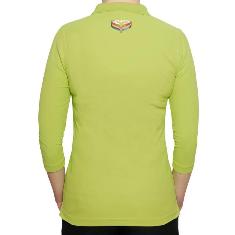 Q1905 Dames Driekwart Polo Distance Lime Green
