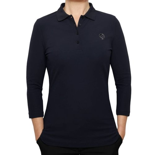Dames Driekwart Polo Distance Navy