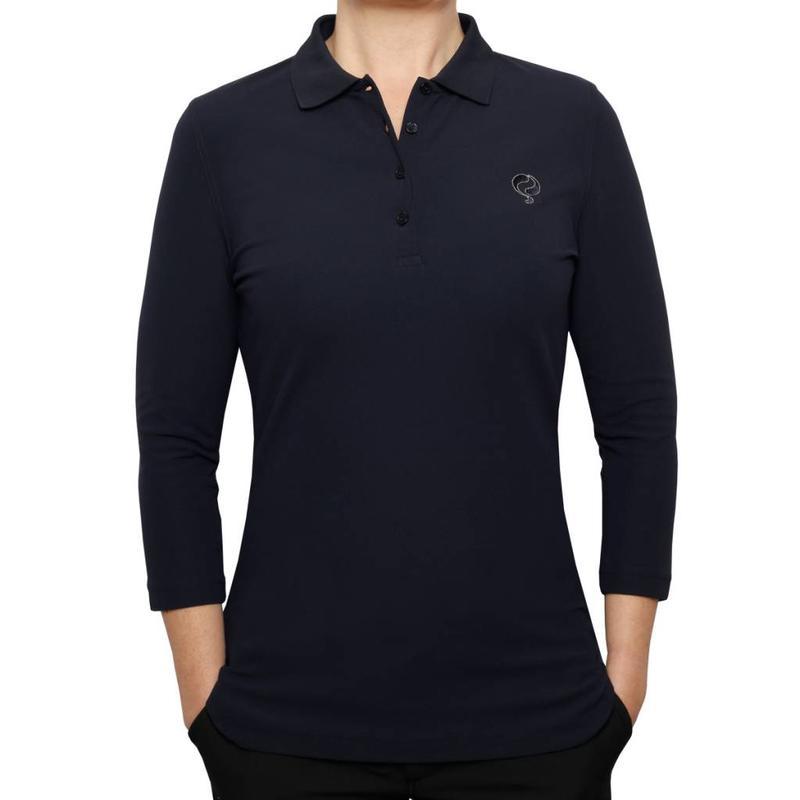Q1905 Women's 3/4 Golf Polo Distance Navy