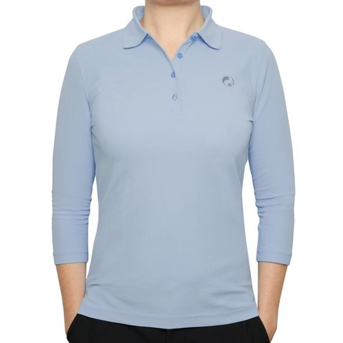 Women's 3/4 Golf Polo Distance Lt Azul