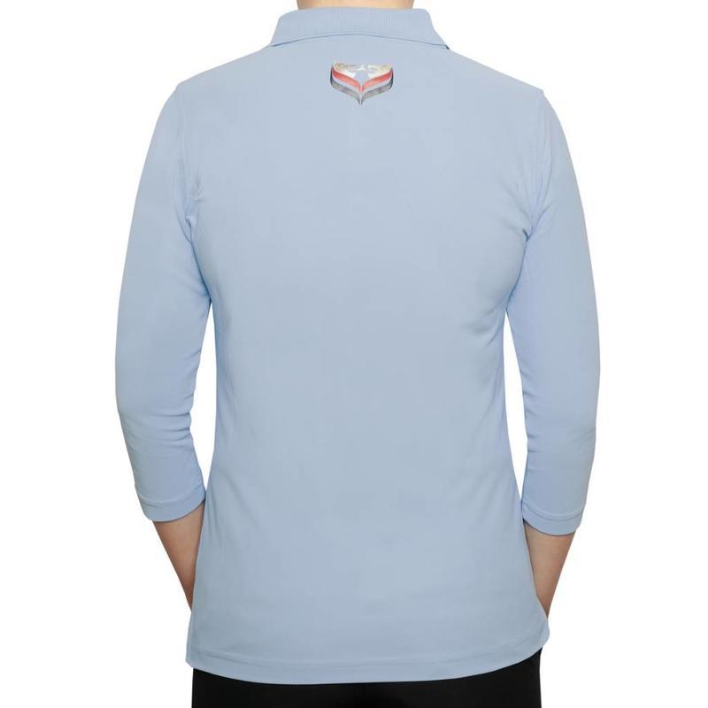 Women's 3/4 Golf Polo Distance Lt Azul