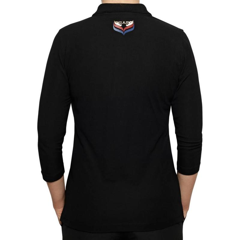 Women's 3/4 Golf Polo Distance Black