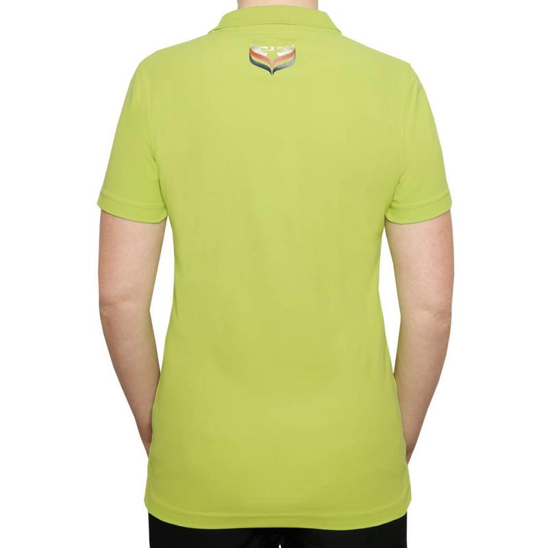 Women's Golf Polo Square Lime Green