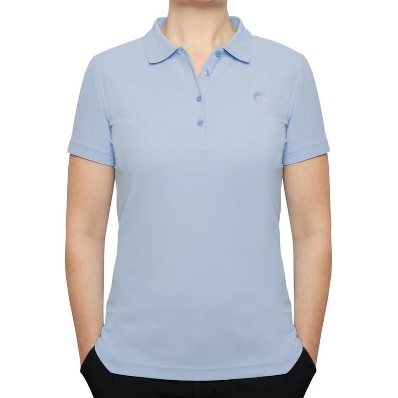 Women's Golf Polo Square Lt Azul