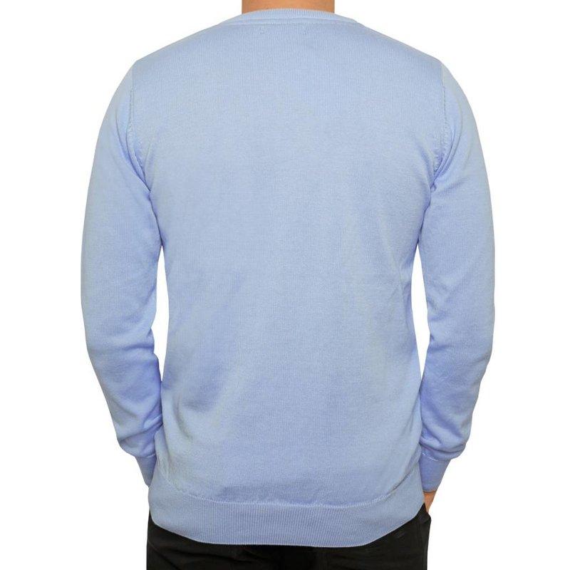 Men's Pullover V-neck Marden Light Azul