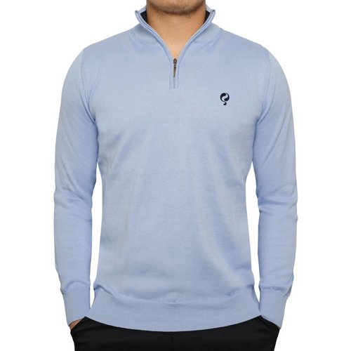 Heren Pullover Half Zip Stoke Light Azul / Deep Navy