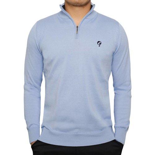 Men's Pullover Half Zip Stoke Light Azul / Deep Navy
