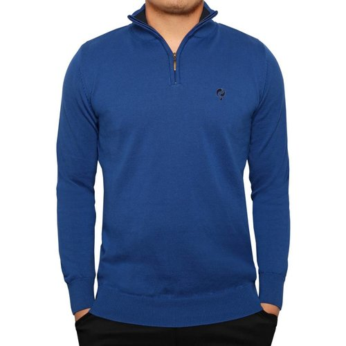 Men's Pullover Half Zip Stoke Skydiver / Deep Navy