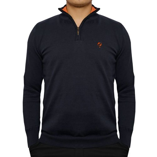 Men's Pullover Half Zip Stoke Deep Navy / Orange