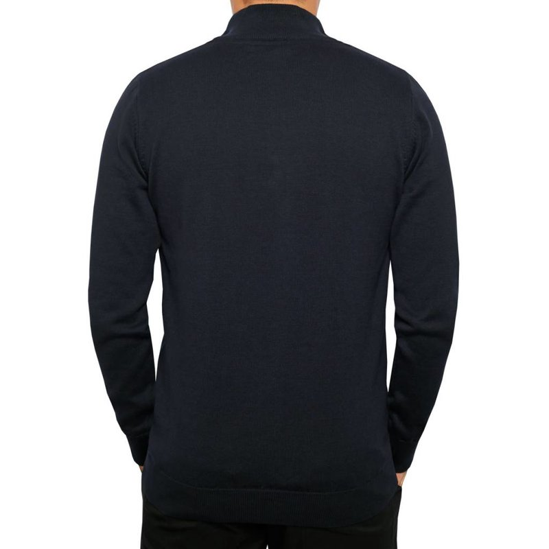 Men's Pullover Half Zip Stoke Deep Navy / Lt Azul