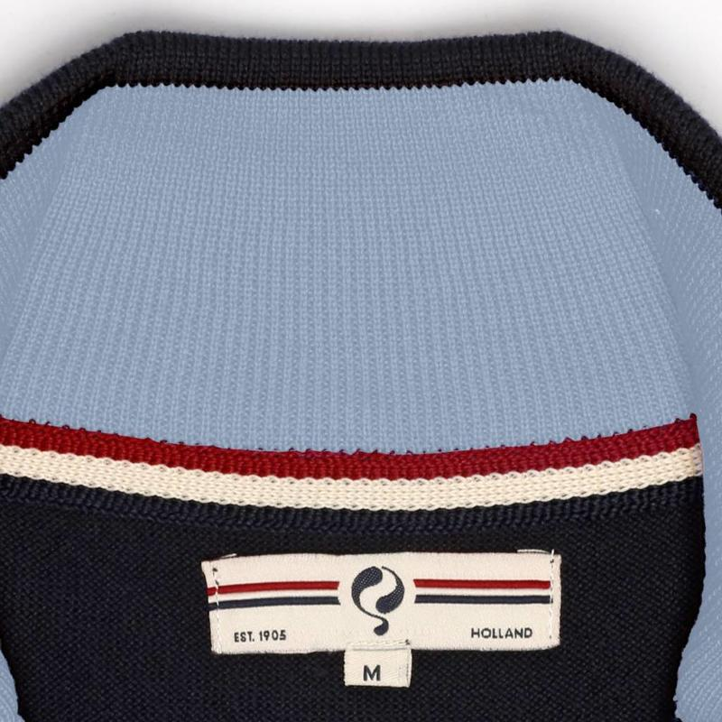 Heren Pullover Half Zip Stoke Deep Navy / Lt Azul