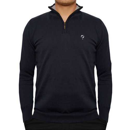 Heren Pullover Half Zip Stoke Deep Navy / Greyhound