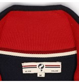 Q1905 Men's Pullover Half Zip Stoke Deep Navy / Chinese Red