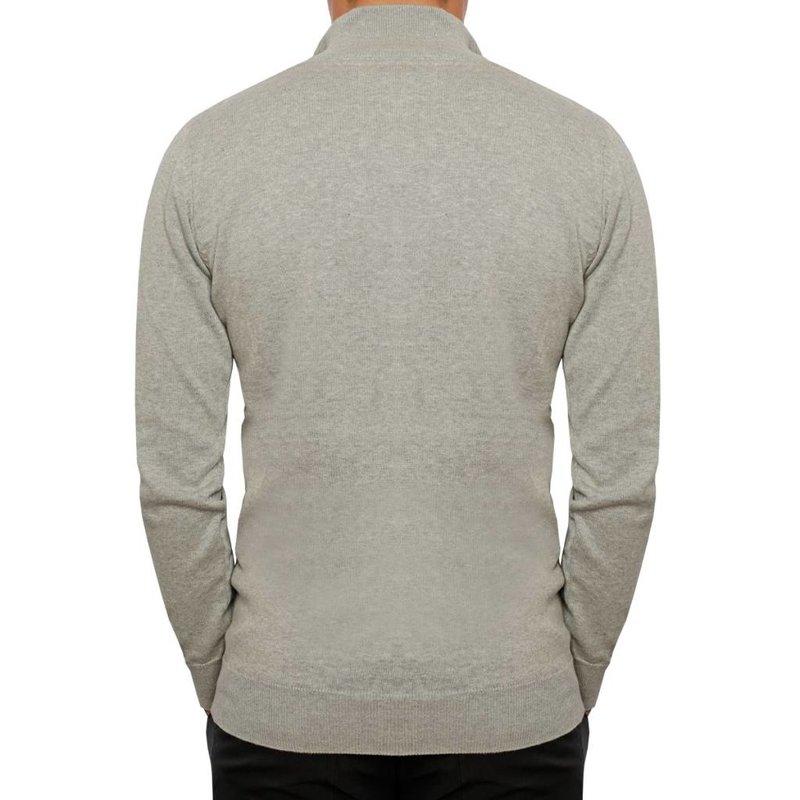 Men's Pullover Half Zip Stoke Greyhound / Deep Navy
