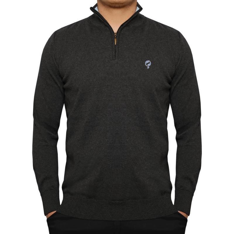 Men's Pullover Half Zip Stoke Antracite / Lt Azul