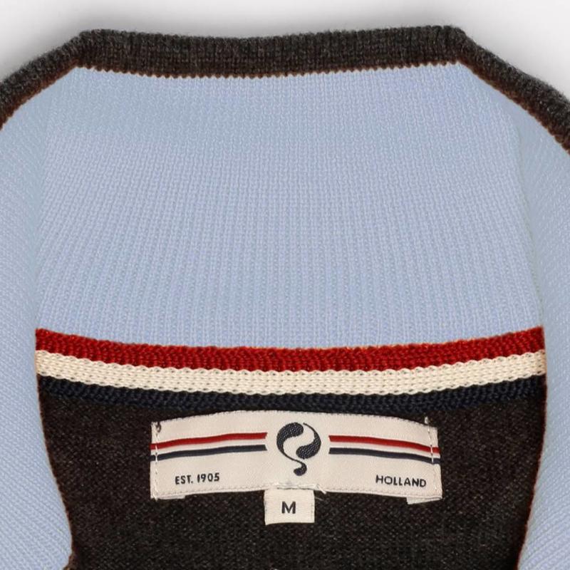 Heren Pullover Half Zip Stoke Antracite / Lt Azul