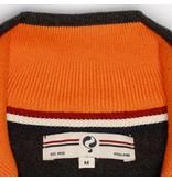 Heren Pullover Half Zip Stoke Antracite / Orange
