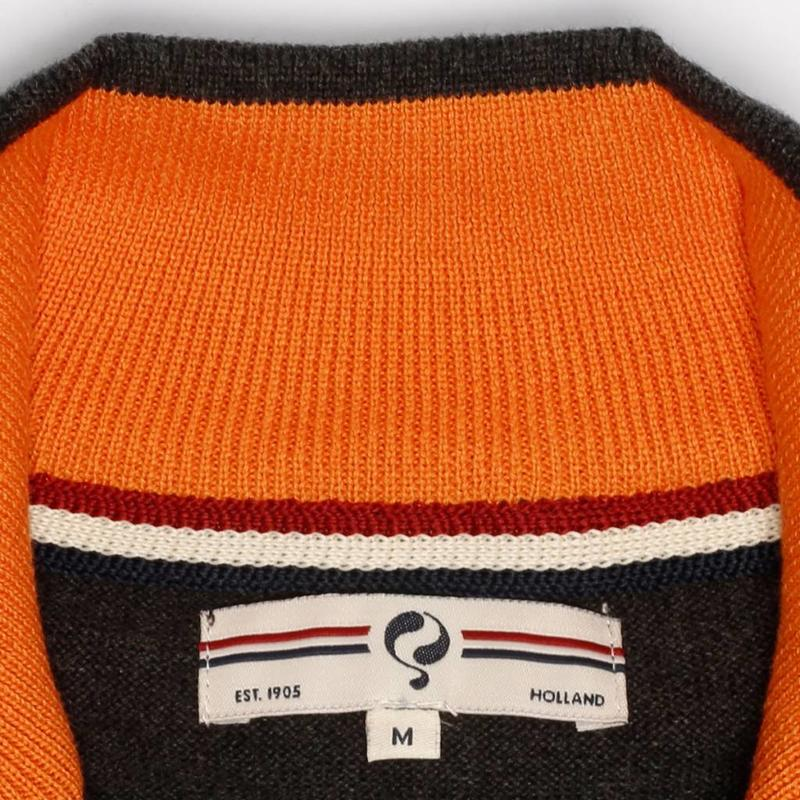 Men's Pullover Half Zip Stoke Antracite / Orange