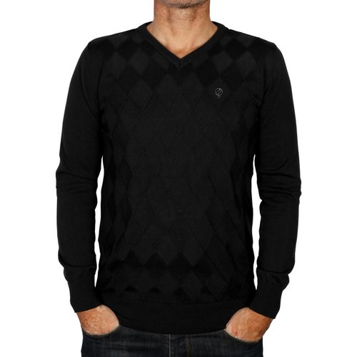 Heren Pullover Ruit Denton Black