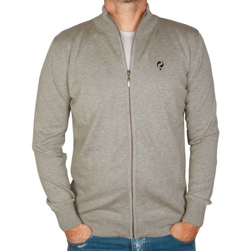 Heren Trui Full Zip Midford Grey Melange