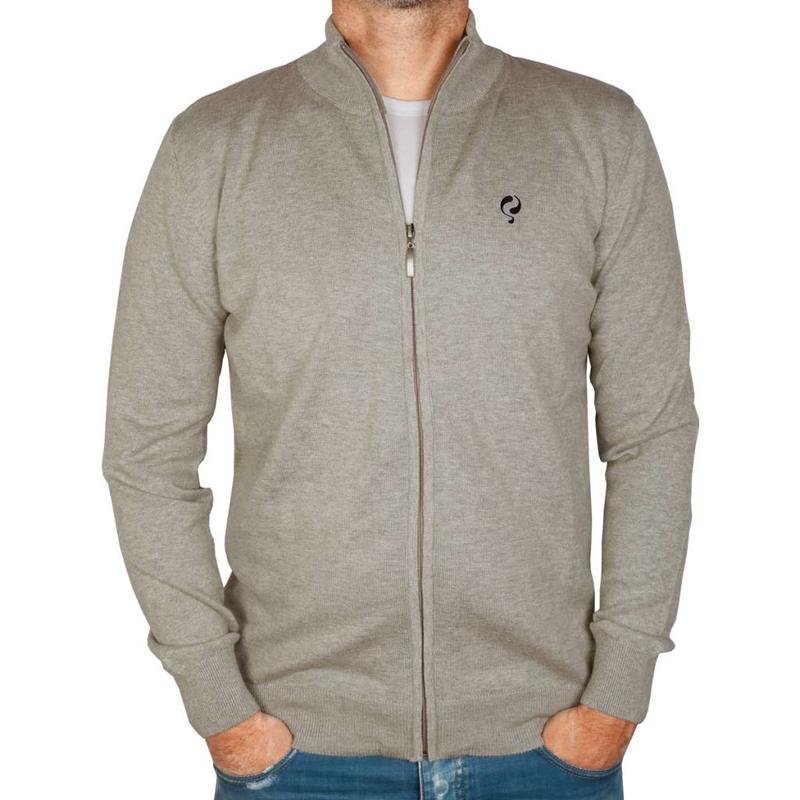 Men's Jersey Full Zip Midford Grey Melange