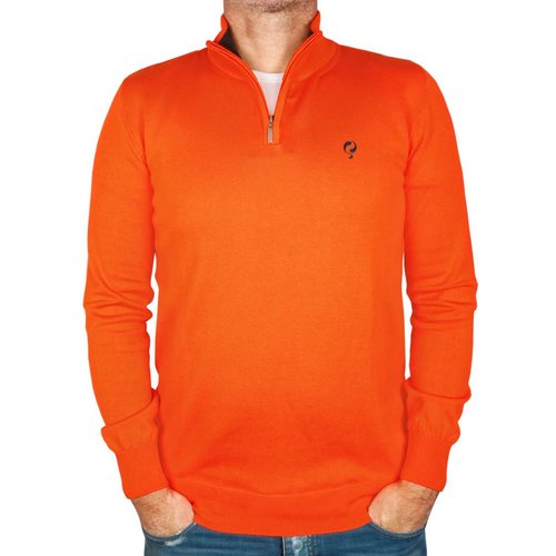 Heren Pullover Half Zip Stoke Orange