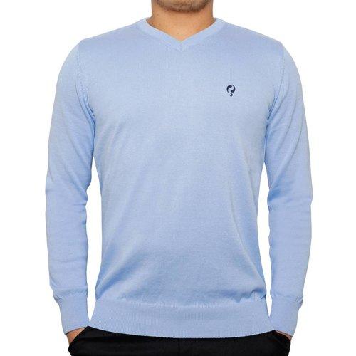 Heren Pullover V-neck Marden Light Azul