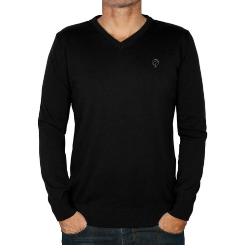 Heren Pullover V-neck Marden Black