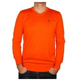 Men's Pullover V-neck Marden Orange