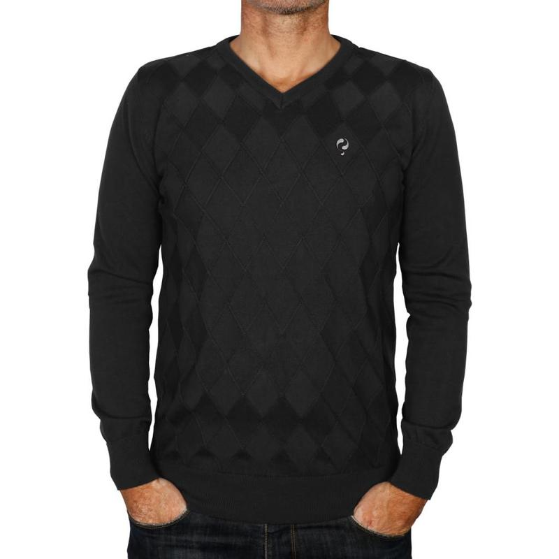 Heren Pullover Ruit Denton Anthracite