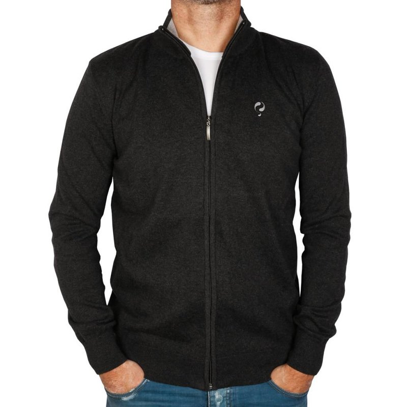 Men's Jersey Full Zip Midford Anthracite