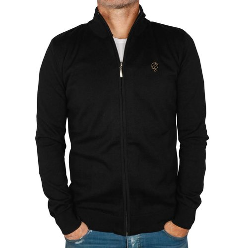 Heren Trui Full Zip Midford Black