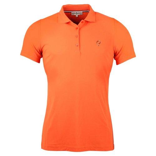 Women's Golf Polo Square Orange