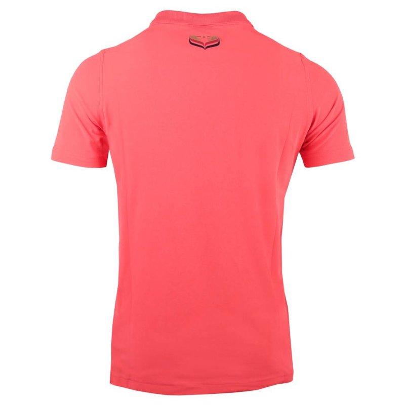 Men's Golf Polo JL Flag Scarlet Pink