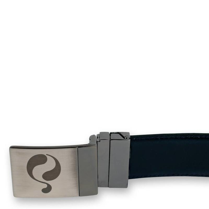 Leren Riem Chip Navy / White