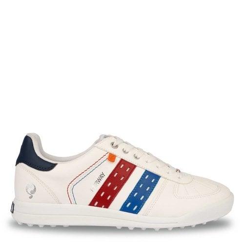 Men's Golf Shoe Fairway White / Red-Blue
