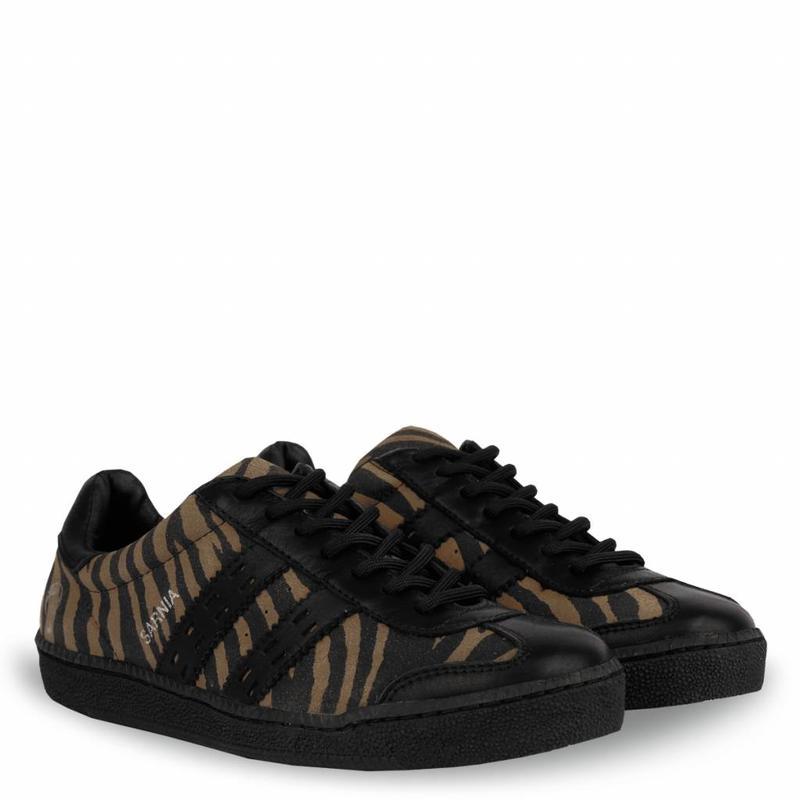 Q1905 Dames Sneaker Sarnia Taupe / Black
