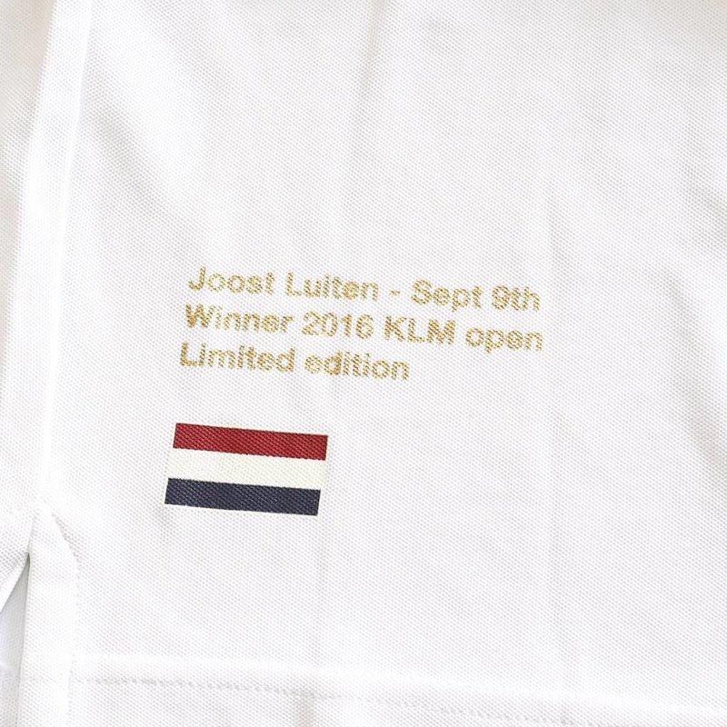 Heren Polo Joost Luiten Limited Edition White
