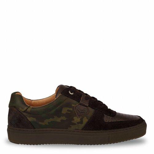 Heren Sneaker Maurissen DLX Green Army / Dk Brown
