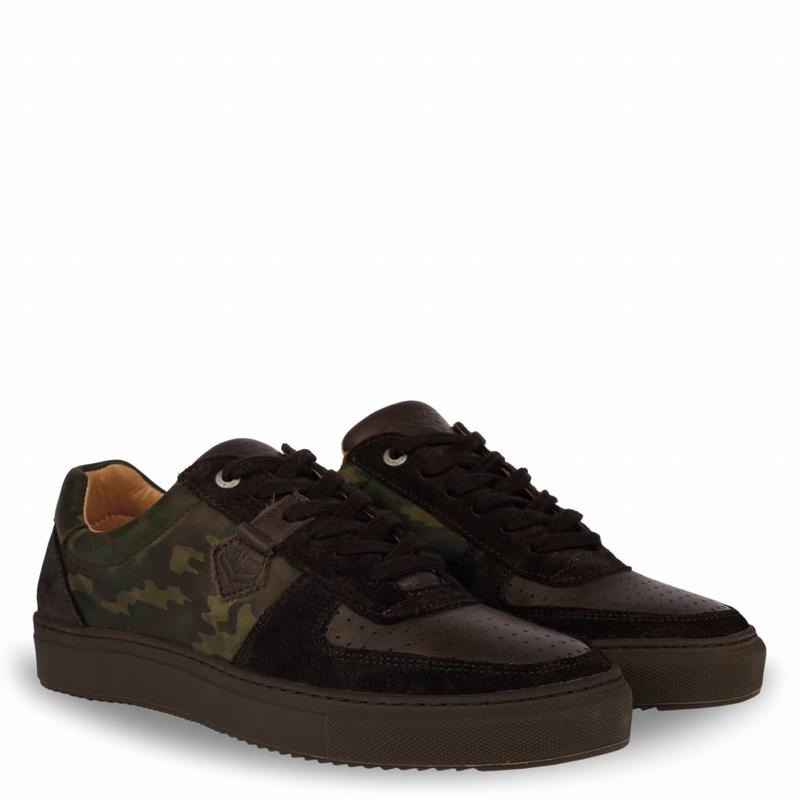 Heren Sneaker Maurissen DLX Green Army / Dk Brown