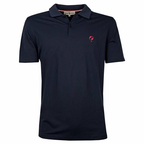 Heren Polo JL Flag Deep Navy