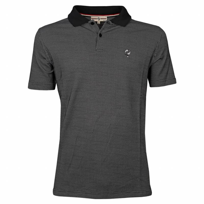 Heren Polo JL Flag Black / White