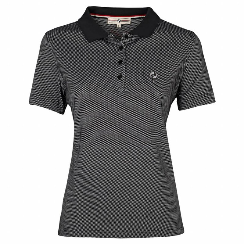 Dames Polo Square Black / White