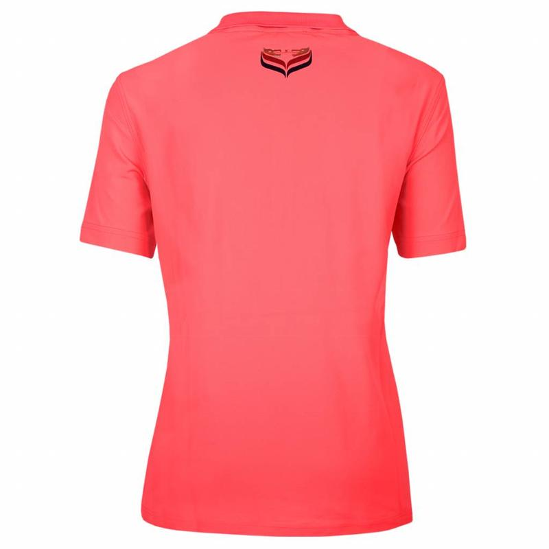 Q1905 Women's Polo Square Lightning Pink