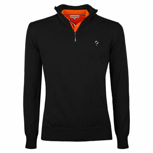 Men's Pullover Half Zip Stoke Black