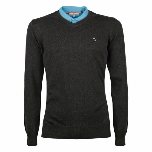 Heren Pullover V-neck Marden Antracite